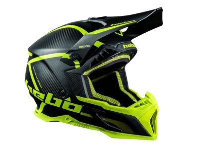 CASCO HEBO MX LEGEND CARBON FLUO