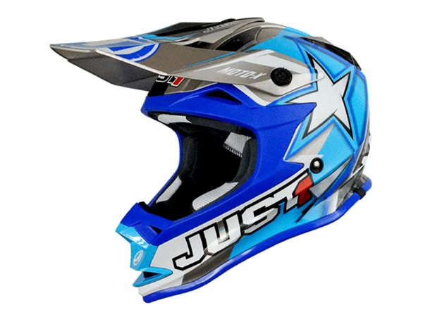 CASCO JUST1 J32 MOTOX AZUL