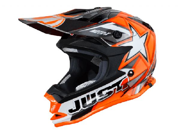 CASCO JUST1 J32 MOTOX NARANJA