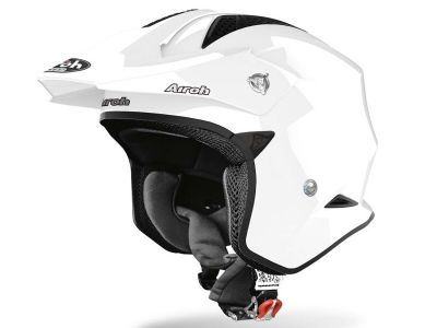 CASCO TRIAL AIROH TRR BLANCO BRILLO