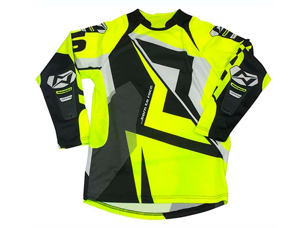 CAMISA TRIAL JUNIOR MOTS RIDER3 FLUO