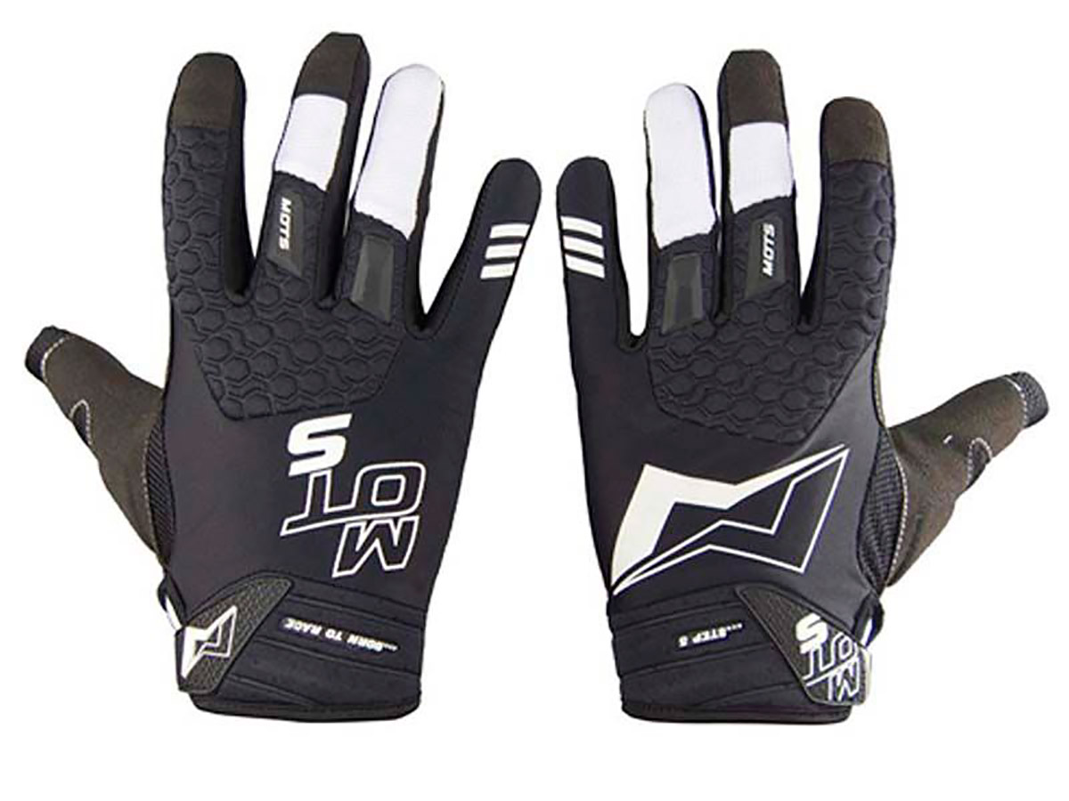 GUANTES TRIAL MOTS STEP5 NEGRO